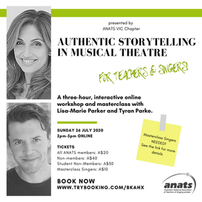 26th July 2020 | ONLINE | Authentic Storytelling in Musical Theatre