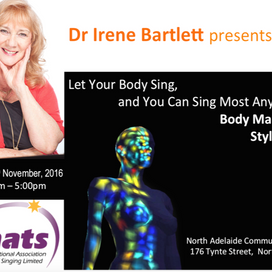 November 6 | Let Your Body Sing, and You Can Sing Most Anything: Body mapping, style, and you
