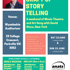 VIC EVENT: The Art & Craft of Story Telling with David Sisco (USA)