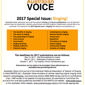 Australian Voice: 2017 Special Edition Call for Papers