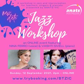 12th Sept 2021   ONLINE   Jazz Workshop