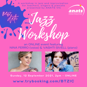 12th Sept 2021 | ONLINE | Jazz Workshop