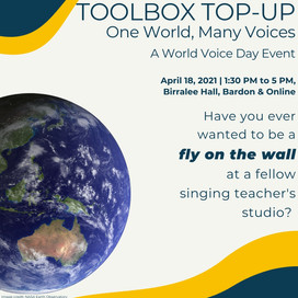 18th April 2021 | QLD | Toolbox Top-up: One World, Many Voices