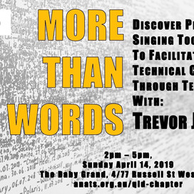 QLD EVENT: More Than Words