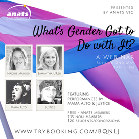 2nd May 2021 | ONLINE | What's Gender Got To Do With It?