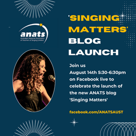 14th Aug 2021  ONLINE  Singing Matters Blog Launch