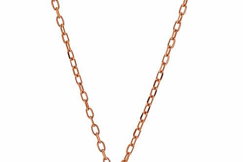 Collar de bronce dorado