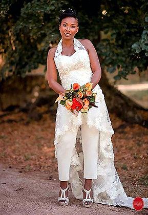 Tunique pantalon de mariage