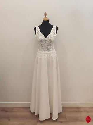 Robe de mariée longue en tulle brodé