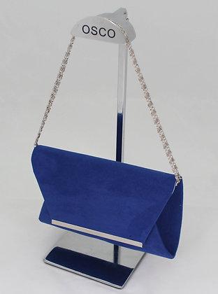pochette daim bleu