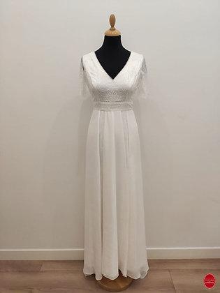 Robe de mariée taille haute