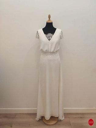 Robe de mariée longue coupe bohème