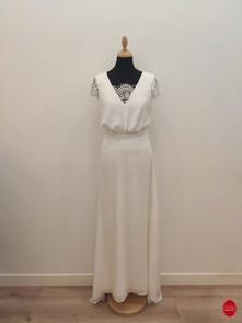 Robe de mariée longue coupe bohème_devan