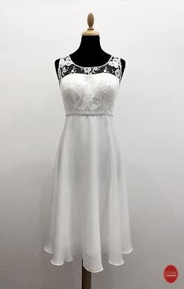 Robe de mariée courte col rond