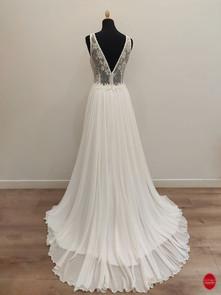 Robe de mariée princesse en mousseline d
