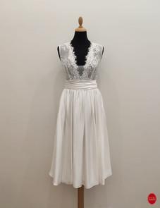 Robe de mariée courte en satin de soie