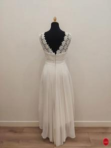 Robe de mariée asymétrique en dentelle d