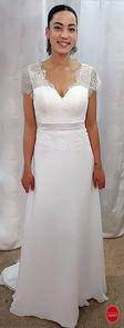 robe de mariée en mousseline de soie et