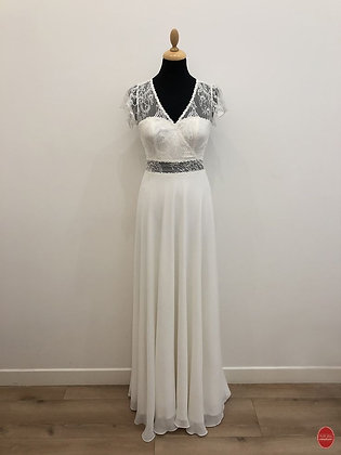 Robe de mariée bohème cache coeur