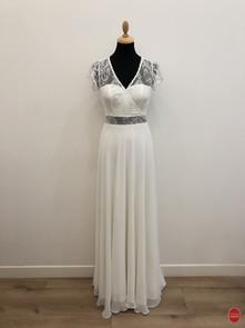 Robe de mariée bohème cache cœur_devant.