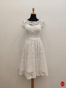 Robe de mariée en dentelle de coton_ dev