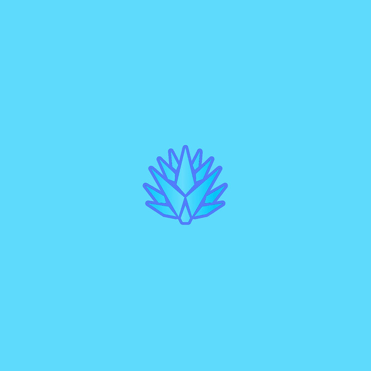 Agave Light Blue Page Outline DRK Blue W