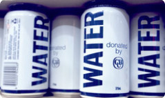 10,000 litres of canned drinking water being donated to relieve parched QLD and NSW towns