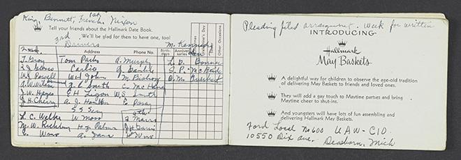 Rosa Parks' taxi schedule log