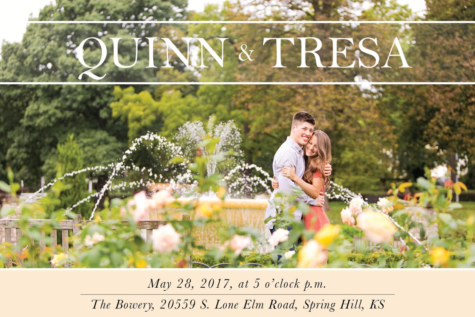 Quinn & Tresa iwedding invitation