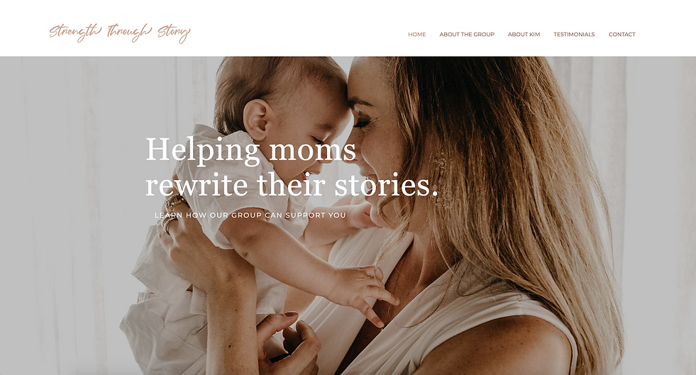 Strength Through Story homepage.png