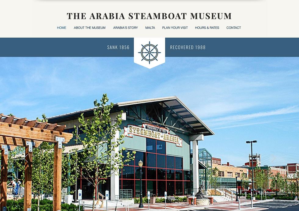 Arabia Steamboat Museum website.png