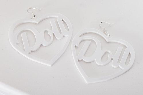 White Doll Earrings