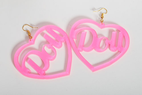 Pink Doll Earrings