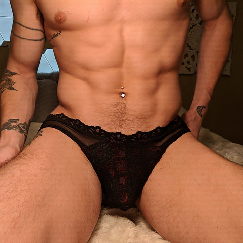 Lace and Mesh Goddexx Thong