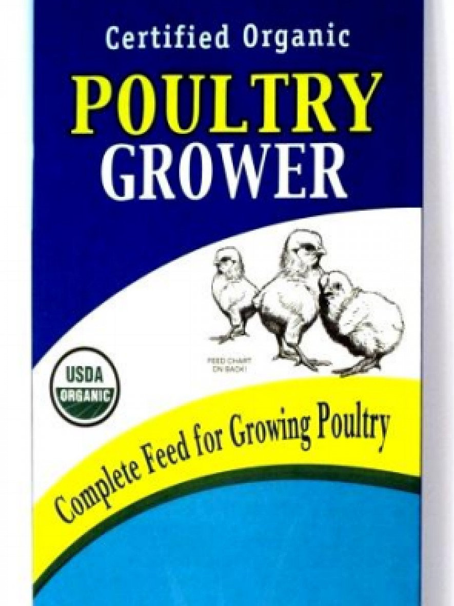 Organic Soy-Free Poultry Grower Feed - 40 lb  Bag