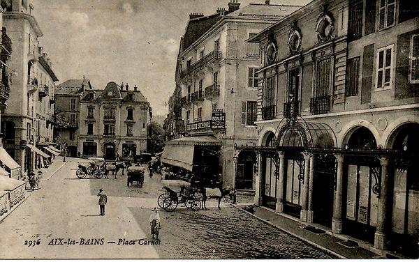 Aix-les-Bains - diligence place Carnot