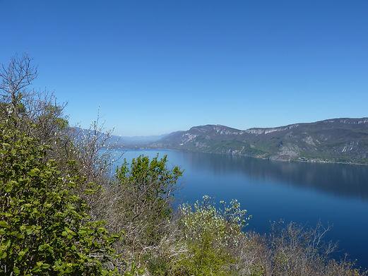 Lac du Bourget en Savoie, vue de la Chapelle de l'Etoile