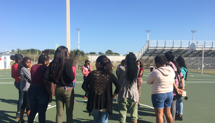 Group Circle Activity at Pompano Beach High School