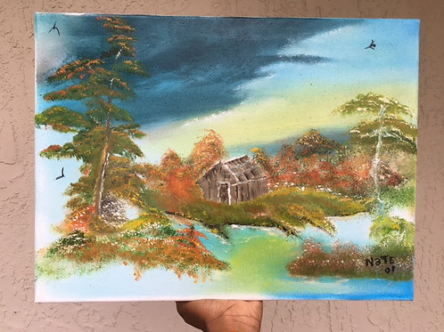 House In The Wild Painting