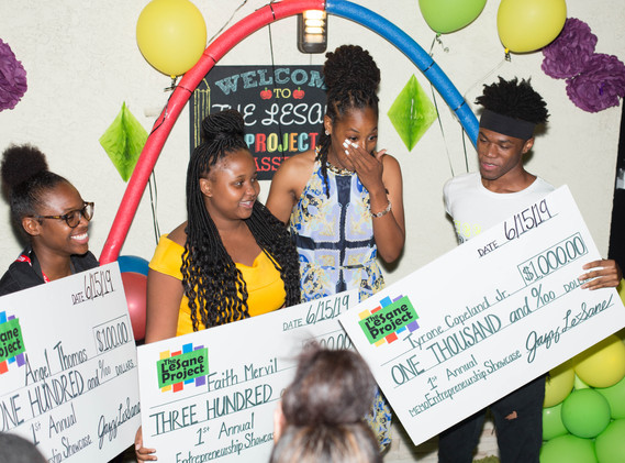 Top 3 Winners of the 1st Annual Youth Entrepreneurship Showcase