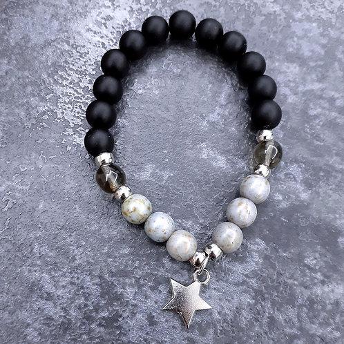 Silver&Black (Mat Onyx Stone)