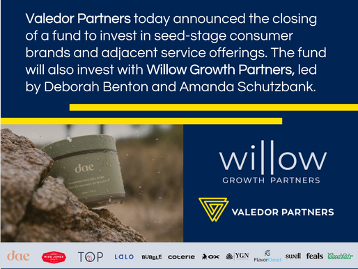 Valedor Partners - Willow Growth Fund Press Release
