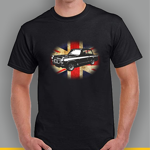 Triumph Herald Inspired T-shirt on Union Jack, Gildan.