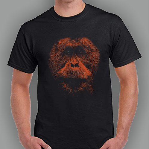 Orangutan Inspired T-shirt, Gildan, Gift, Retro