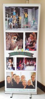 Acorn Youth Theatre roller banner