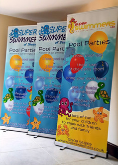 super swimmers roller banners