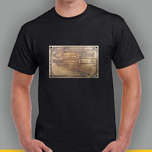 Trusty Brass Plaque T-shirt, Gildan.