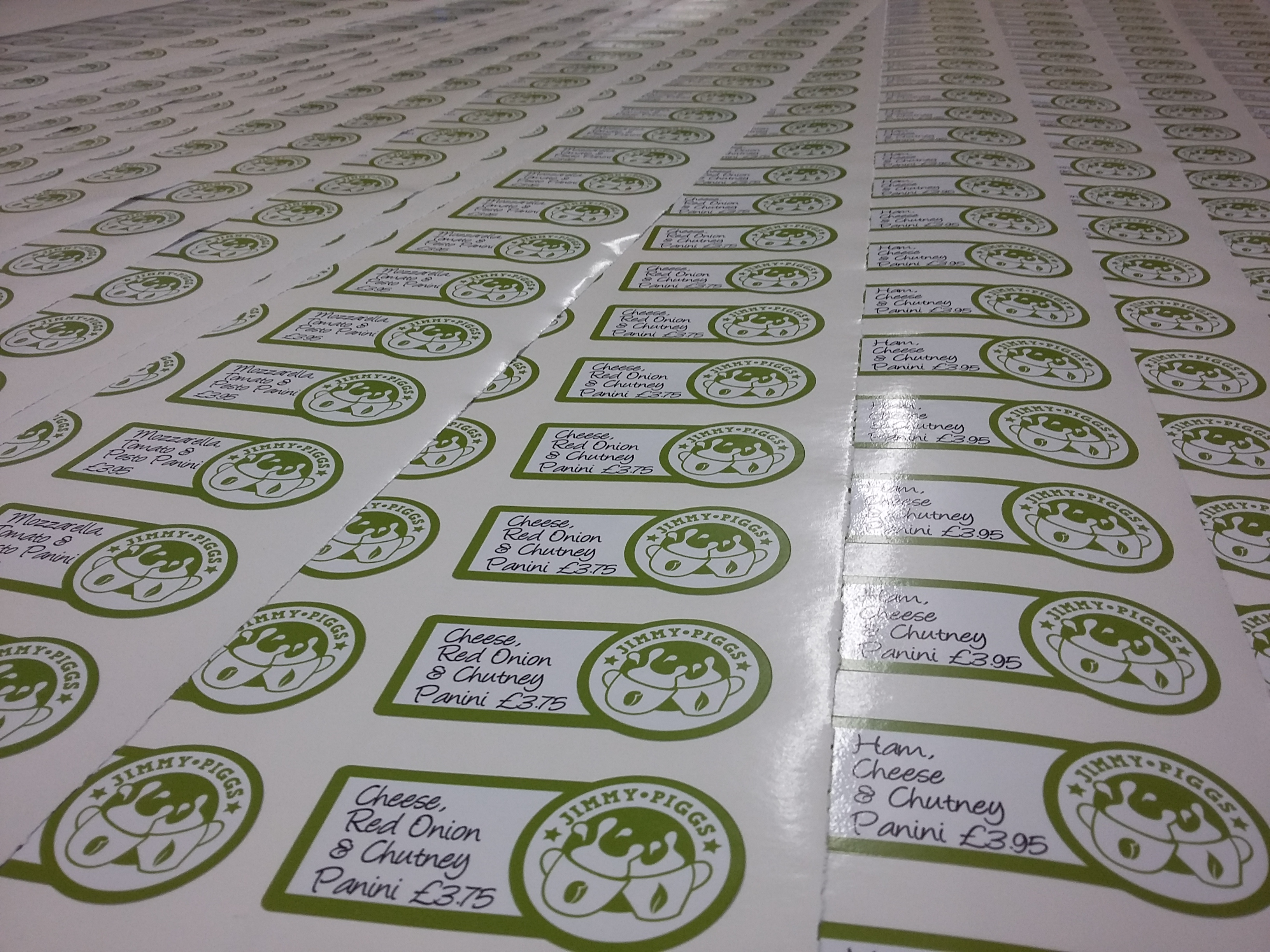 Bespoke cut vinyl stickers