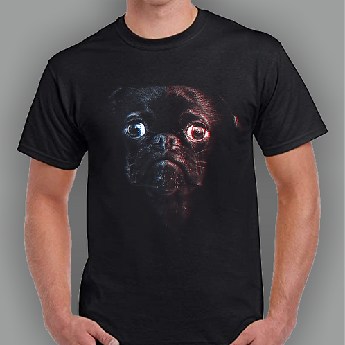 Pug, Dog Inspired T-shirt, Gildan, Gift, Retro