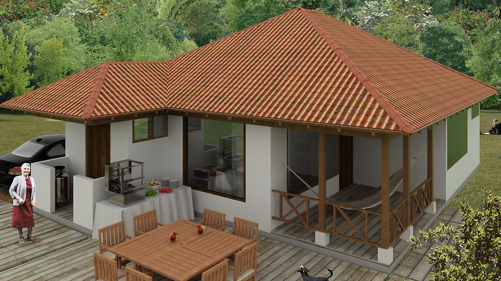Confortable casa de 3 habitaciones, 2 baños y terraza. 3Q-93-K